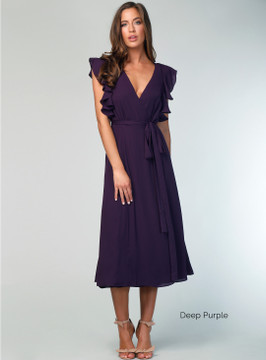 Flutter Sleeve Midi Dress By Samantha Rose
