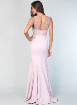 Laneese Cross Over Tulle Dress By Samantha Rose