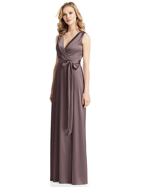Sleeveless Stretch Wrap Dress with Sash By Jenny Packham Dress JP1026 in 33 colors