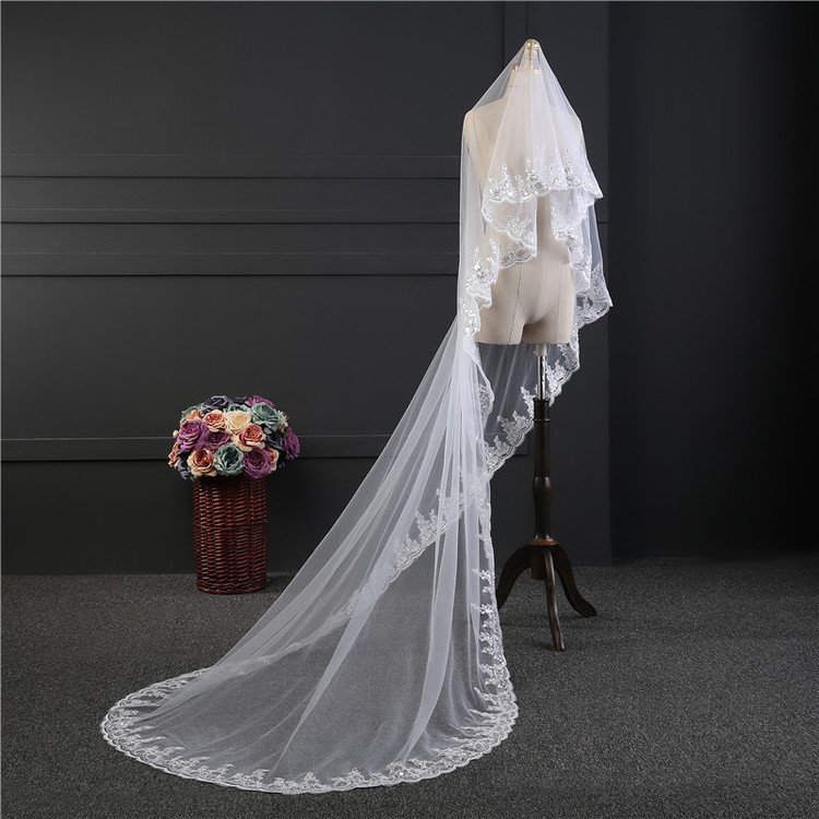 Gemma Sequined Lace Wedding Veil