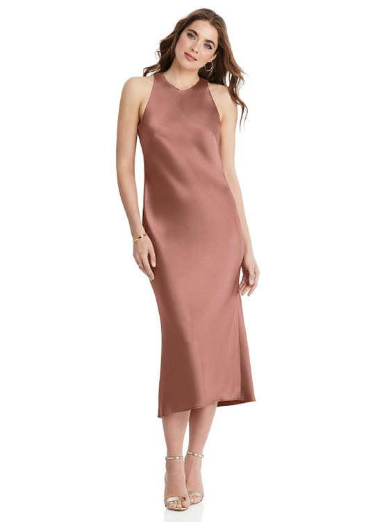Lou - Tie Neck Cutout Midi Tank Dress
