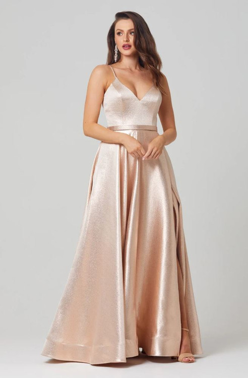 Valerie A-line Metallic Formal Dress by Tania Olsen