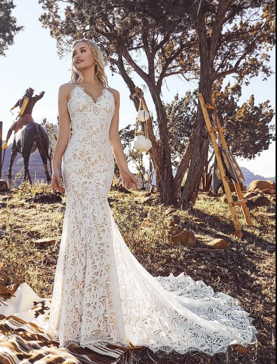 Fefe Gown from La Perle by Calla Blanche Bridal  in Ivory/Ivory size 10