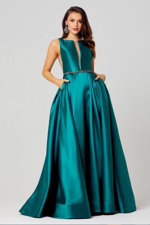 Avery Satin Evening Dress by Tania Olsen Designs PO829