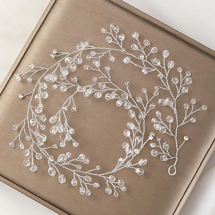 Wedding Hairpiece Silver Crystal