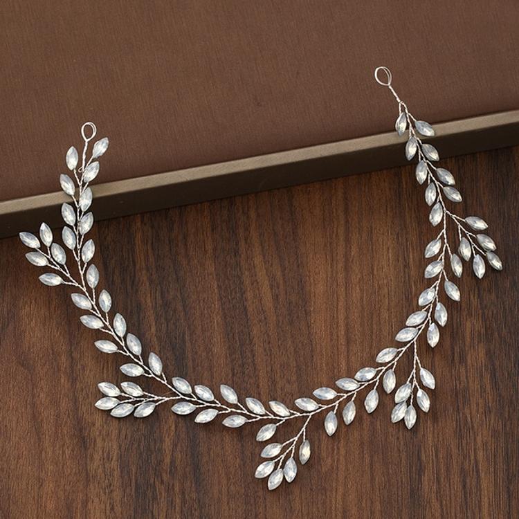 Wedding Hairpiece Leaf Crystal