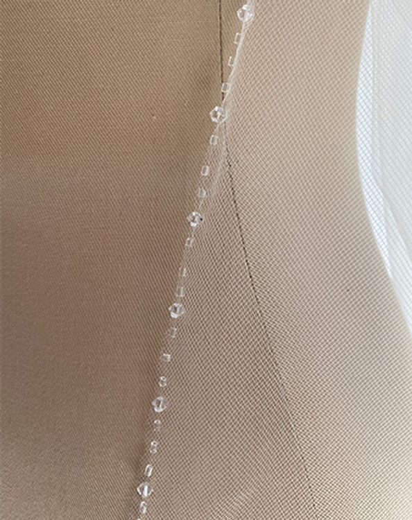 Cathedral Light Crystal Edged Veil