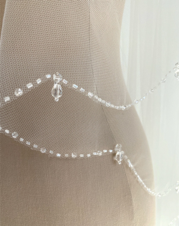 Beaded Scallop Edge Veil
