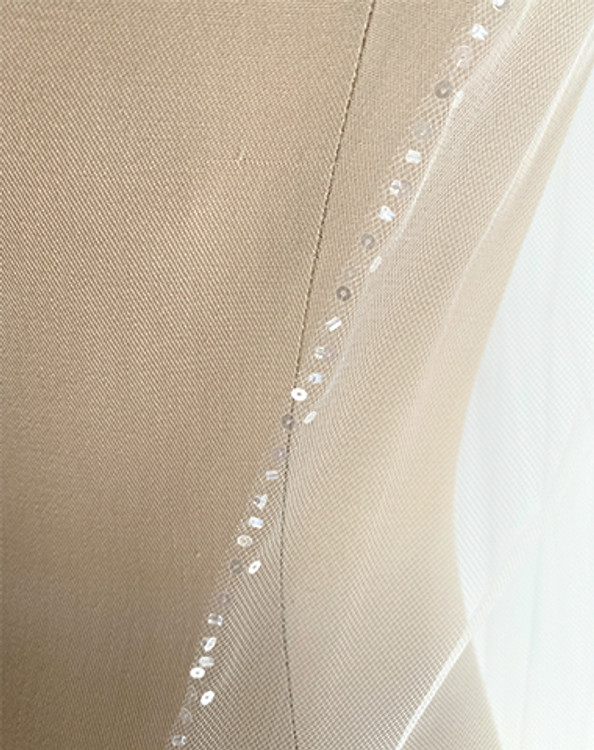Petite Glass Beaded Edge Veil