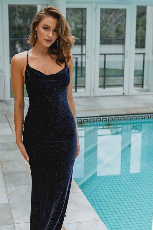 Carlisle Gown by Tania Olsen in Navy