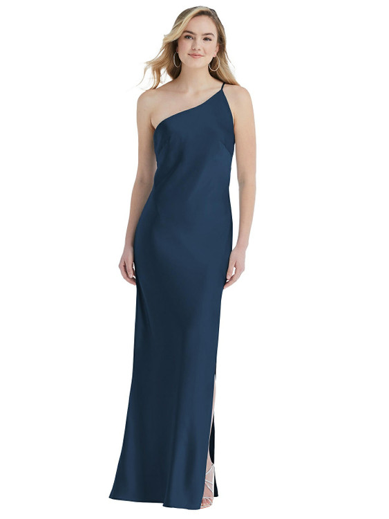 One-Shoulder Asymmetrical Maxi Slip Dress available in 22 colors