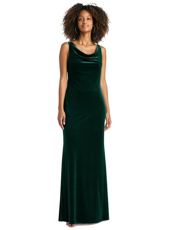 Cowl-Neck Velvet Maxi Tank Dress - Priya by Lovely LB017 in 8 colors