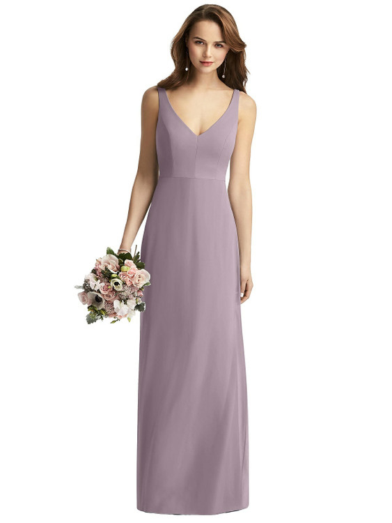 Sleeveless V-Back Long Trumpet Gown by Thread Bridesmaid Style TH016 in 64 colorsin lilac dusk