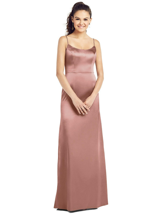 Slim Spaghetti Strap V-Back Trumpet Gown by Thread Bridesmaid Style TH02 in 35 colors