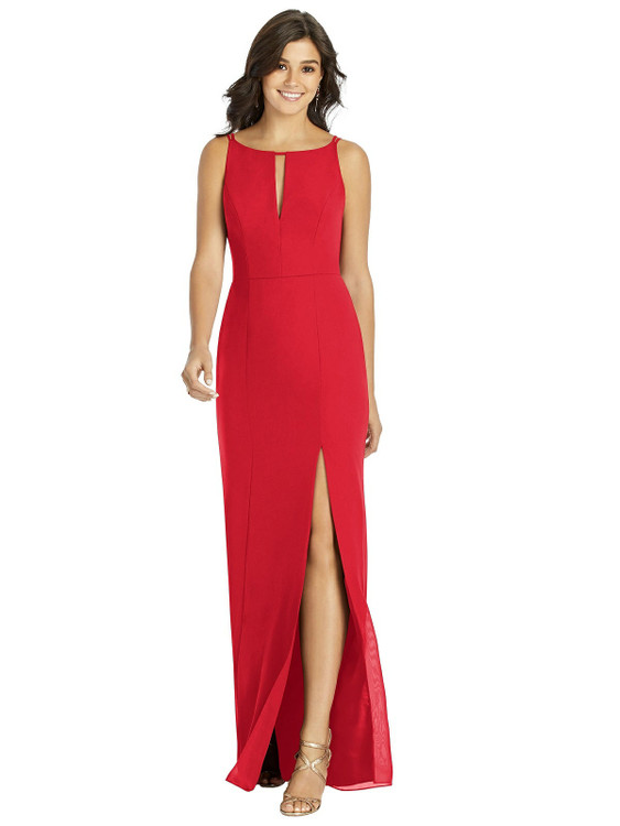 Keyhole Neck Mermaid Dress with Front Slit by Thread Bridesmaid Style TH003 in 36 colors