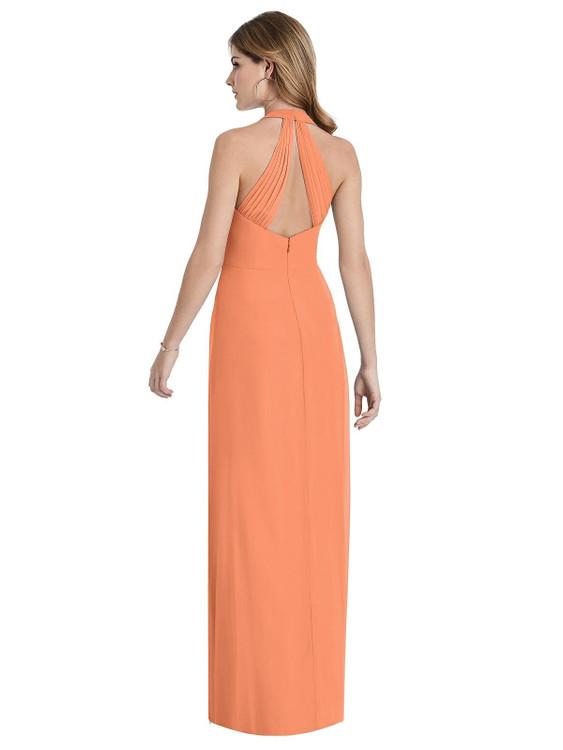 V-Neck Halter Chiffon Maxi Dress - Taryn Thread Bridesmaid Style TH029