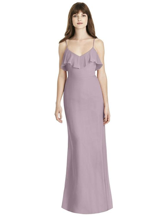 Ruffle-Trimmed Backless Maxi Dress - Britt Thread Bridesmaid Style TH035