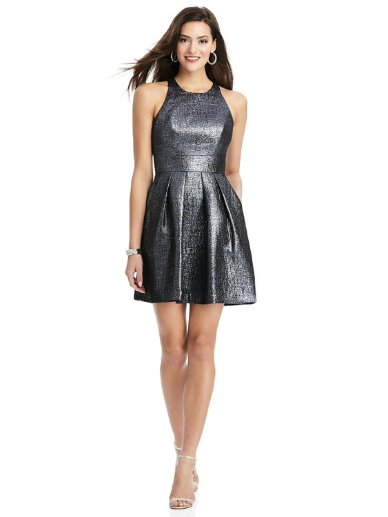 Metallic Halter Cocktail Dress with Pockets by Thread Bridesmaid Style TH023 in 4 colors in heaven