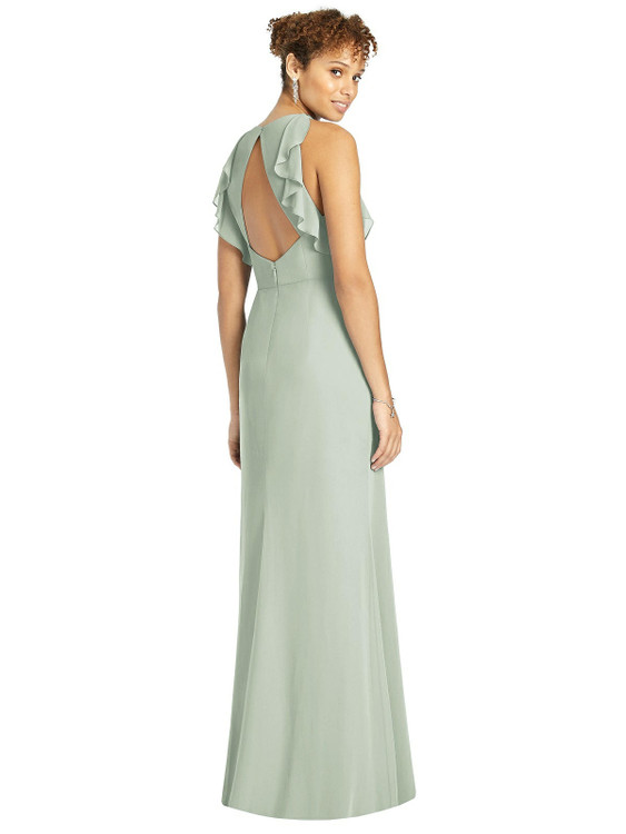 Ruffled Sleeveless Open-Back Mermaid Dress by Studio Design 4541 in 61 colors