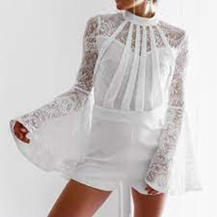 Liara Playsuit in Ivory By Miss Holly The label  in M