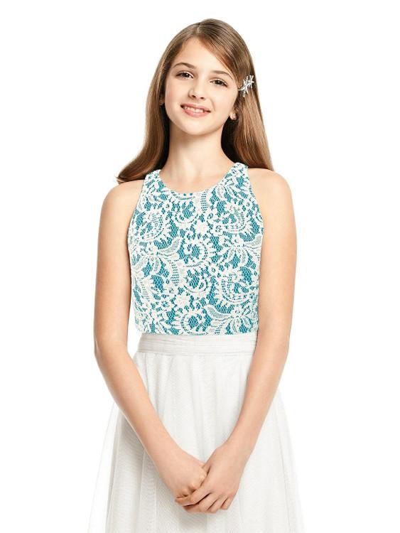 Sleeveless Lace Top Junior Bridesmaid Style JRT541