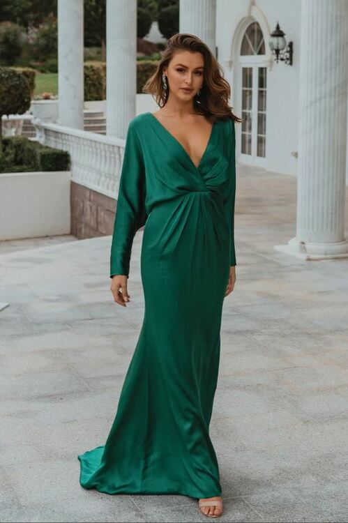 Nelson TO876 Bridesmaids Dress by Tania Olsen in Emerald