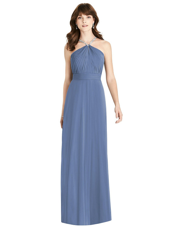 Jeweled Twist Halter Maxi Dress By After Six Style 6782 in 63 colors