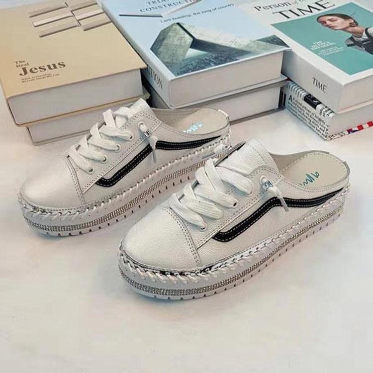 Niki Leather Slide Sneakers