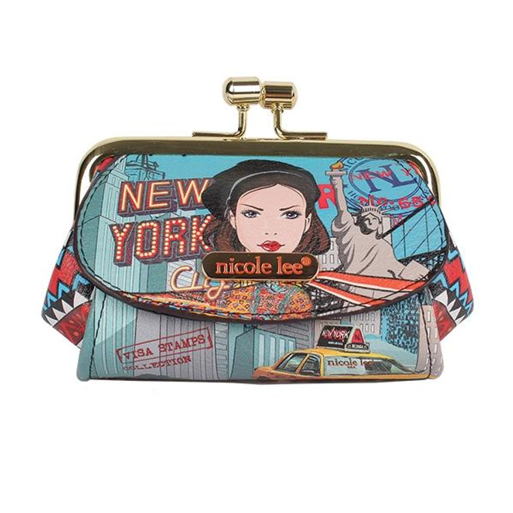 Nicole Lee Mini Coin Purse New York Drive by Ameise