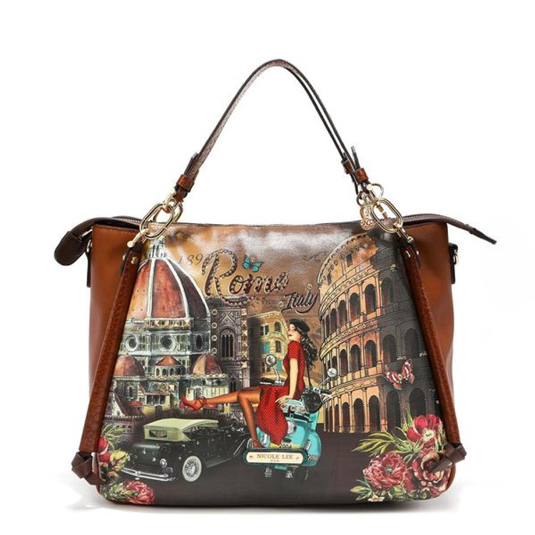 Nicole Lee MEMORY OF ROME TRIM TOTE by Ameise
