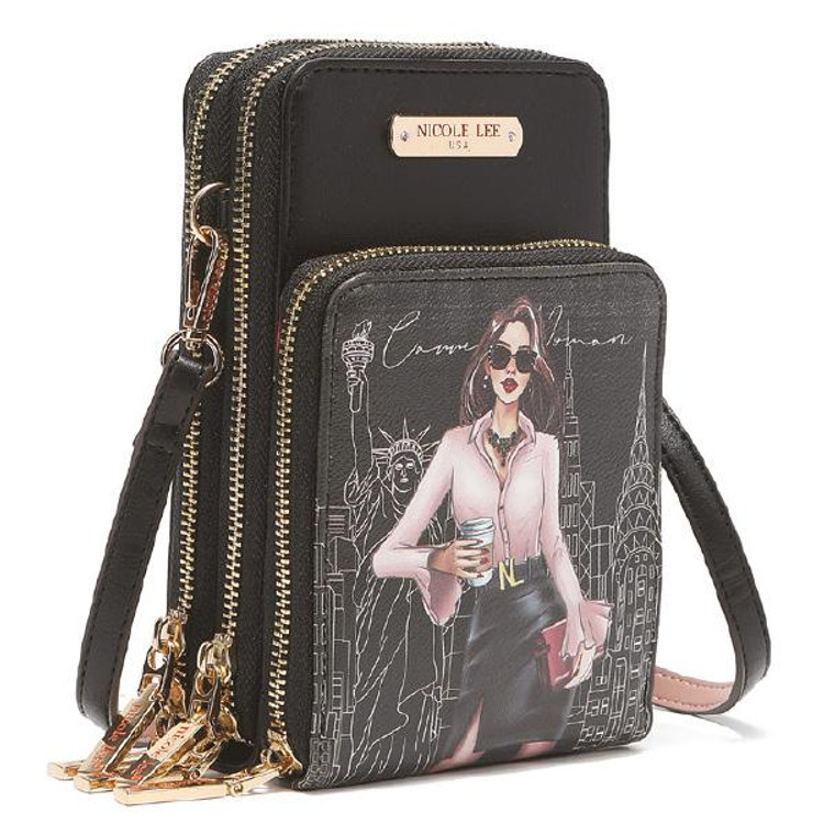 Nicole Lee Career Woman Multi-functional Touch Screen Cell Phone Crossbody by Ameise
