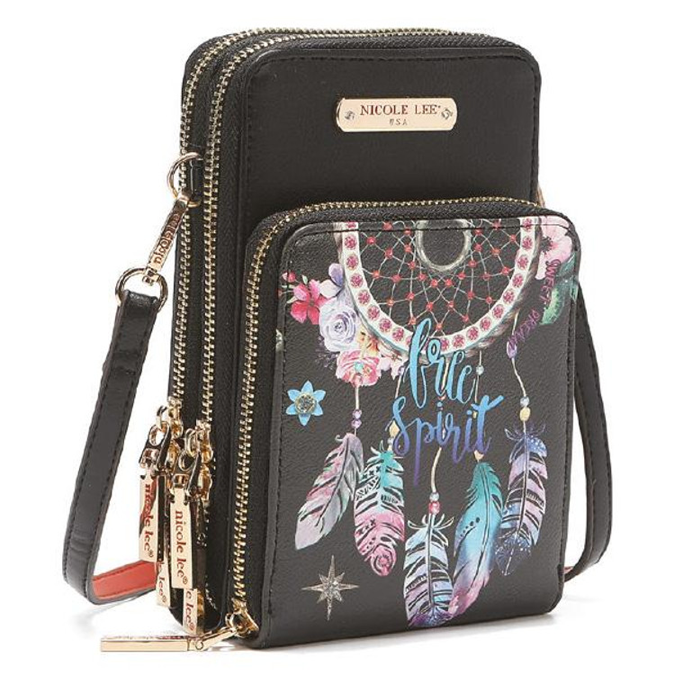 Nicole Lee Dream of all Colours Multi-functional Touch Screen Cell Phone Crossbody by Ameise