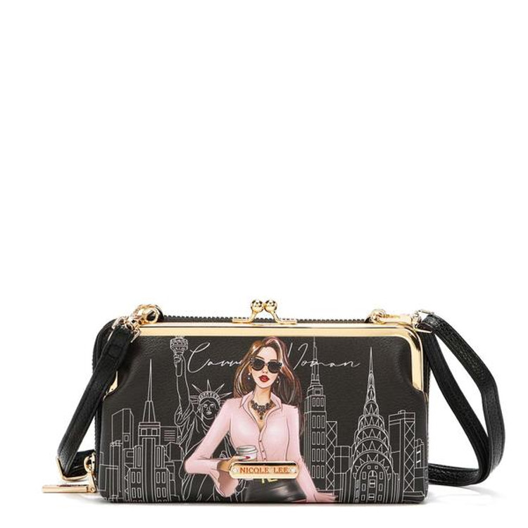 Nicole Lee NL SIGNATURE KISS LOCK CROSSBODY WALLE by Ameise