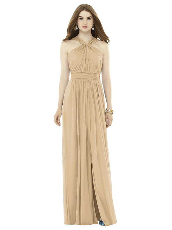 Twist Halter Low Illusion Back Maxi Dress TH103 By Thread Bridesmaids in 18 colors