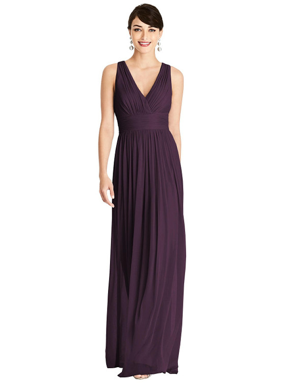 Shirred Wrap Bodice Twist Back Maxi Dress TH107 By Thread Bridesmaids in 18 colors