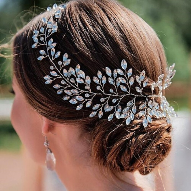 Silver Rhinestone Wedding Headwear (MITIARA3)