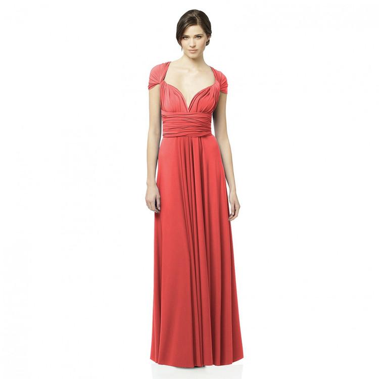 ALYSE Twist Wrap Long Dress By Dessy