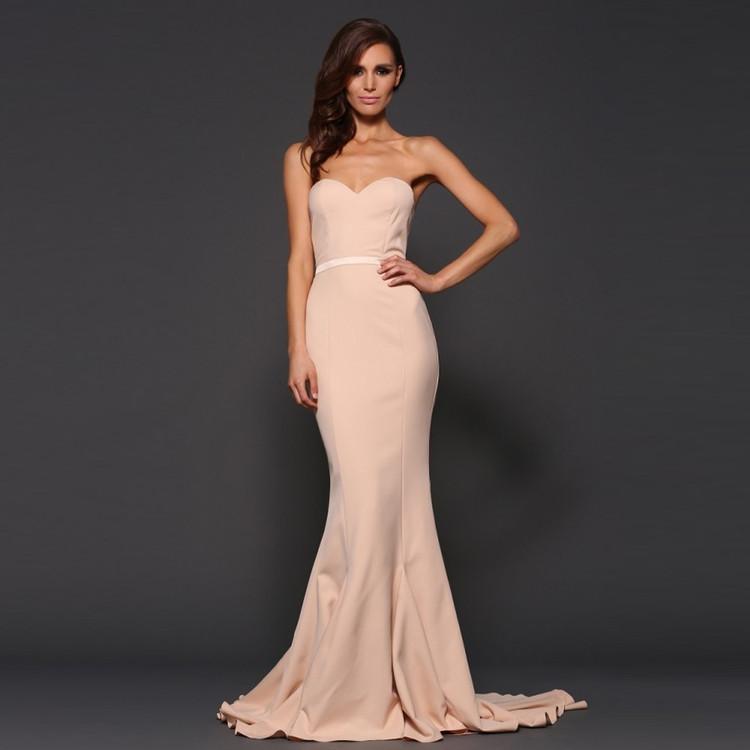 Arianna Dress By Elle Zeitoune in Nude
