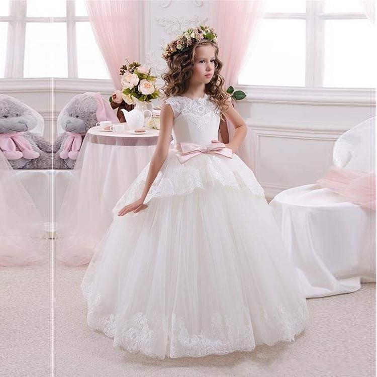 Maddie White Flower Girl Dress size 2-14