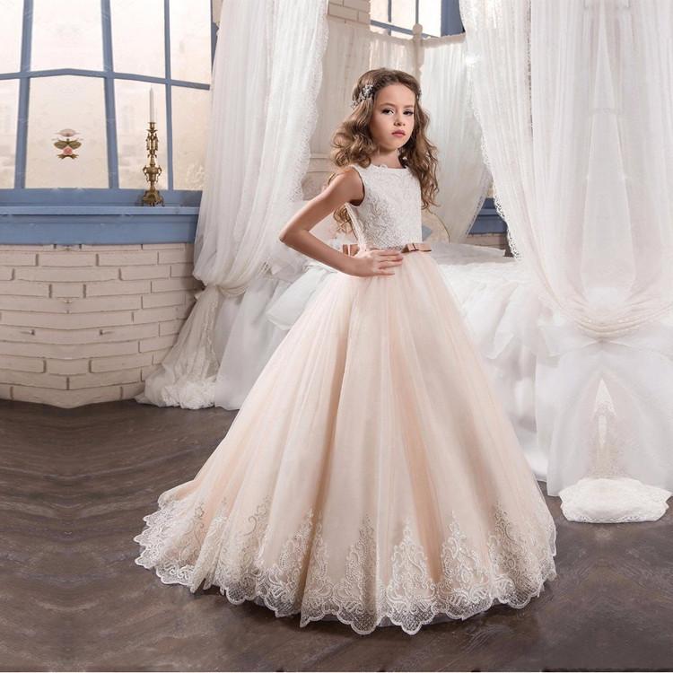 Naomi Champagne Flower Girl Dress size 2-14