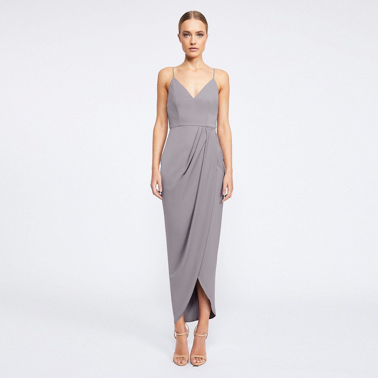 Shona Joy Core Cocktail Dress - Grey