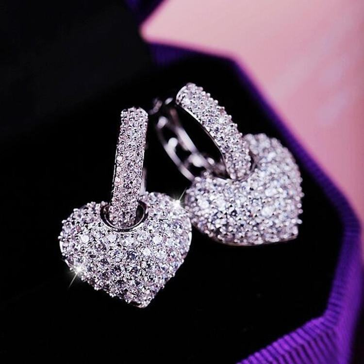 Pendant Heart Hoop earrings