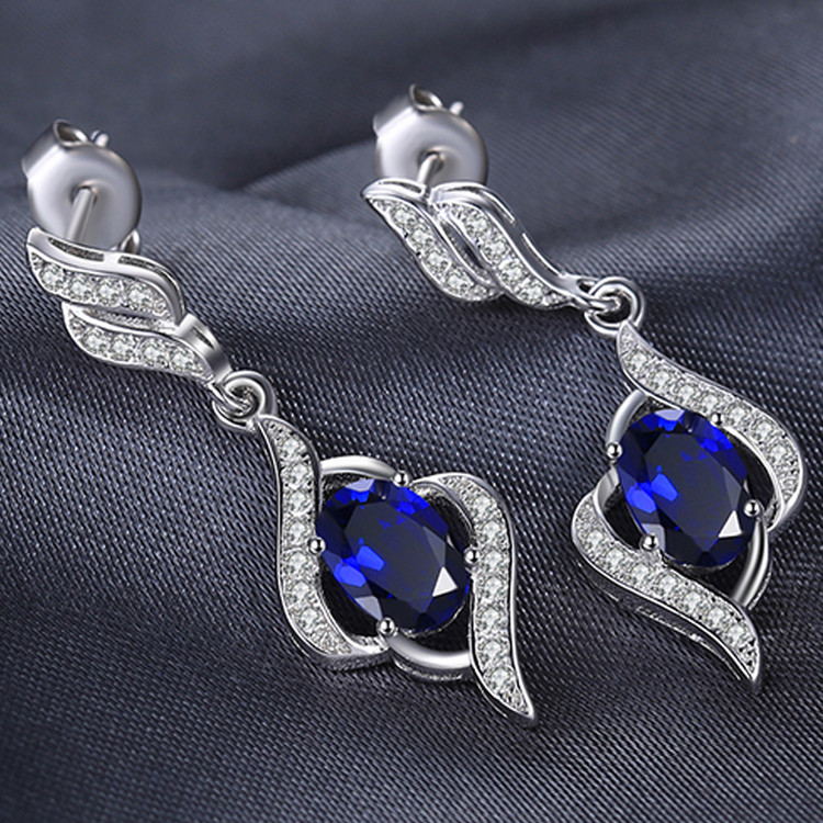 Drop Pendant Sapphire earrings