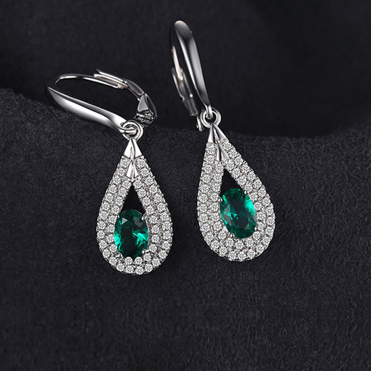 Oval Drop Pendant earrings