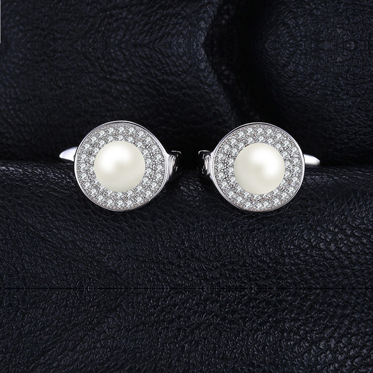 Pearl Clip Hoop earrings