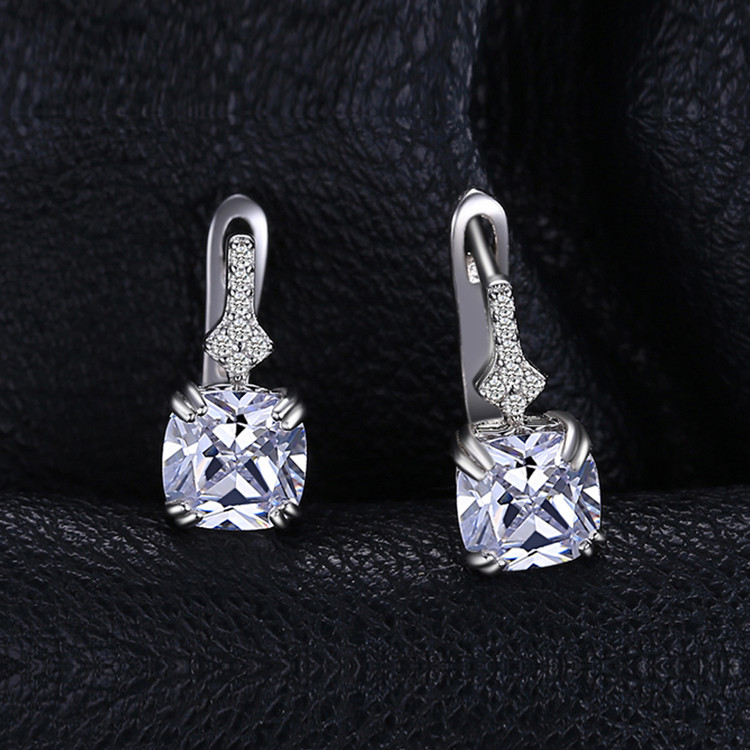 Cushion Cut Clasp earrings