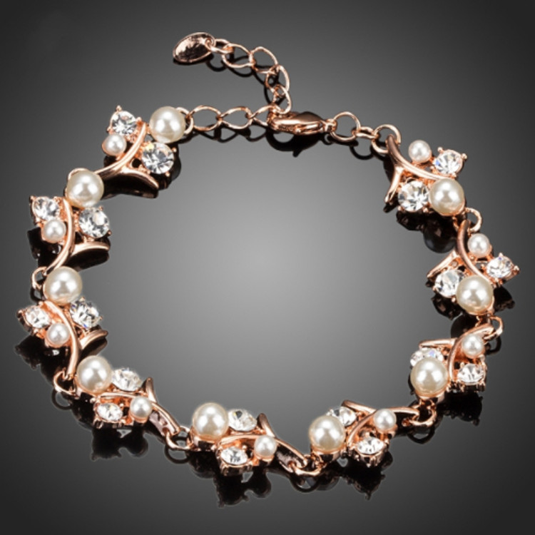 Flower Pearl Bracelet
