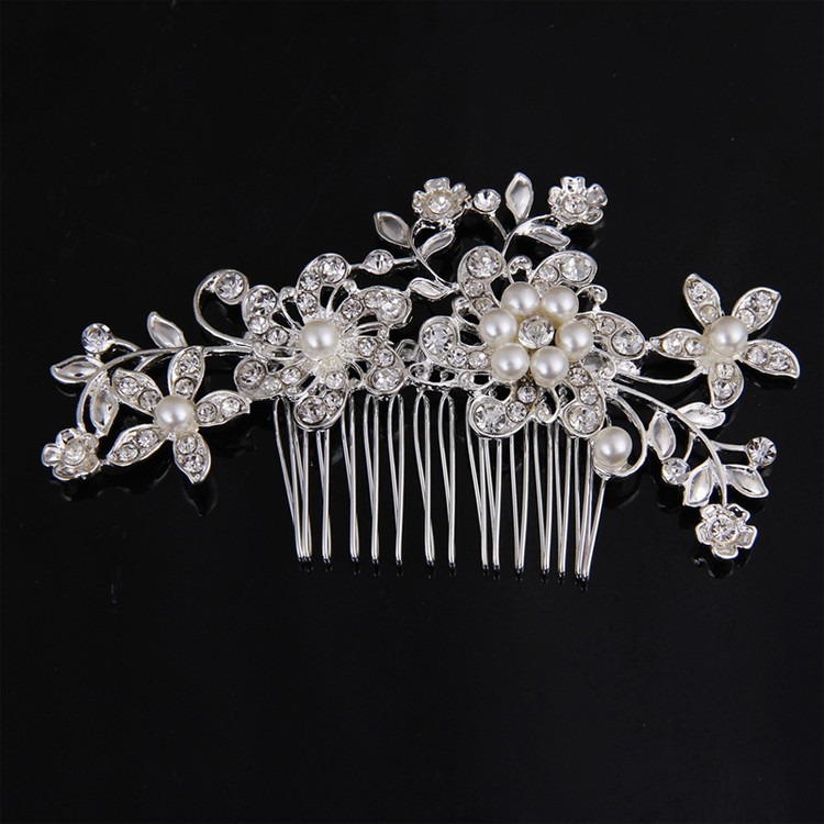 Bridal Flower Pearl Headpiece