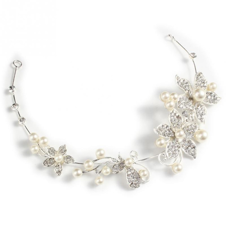 Pearl Diamante Bridal Headpeice