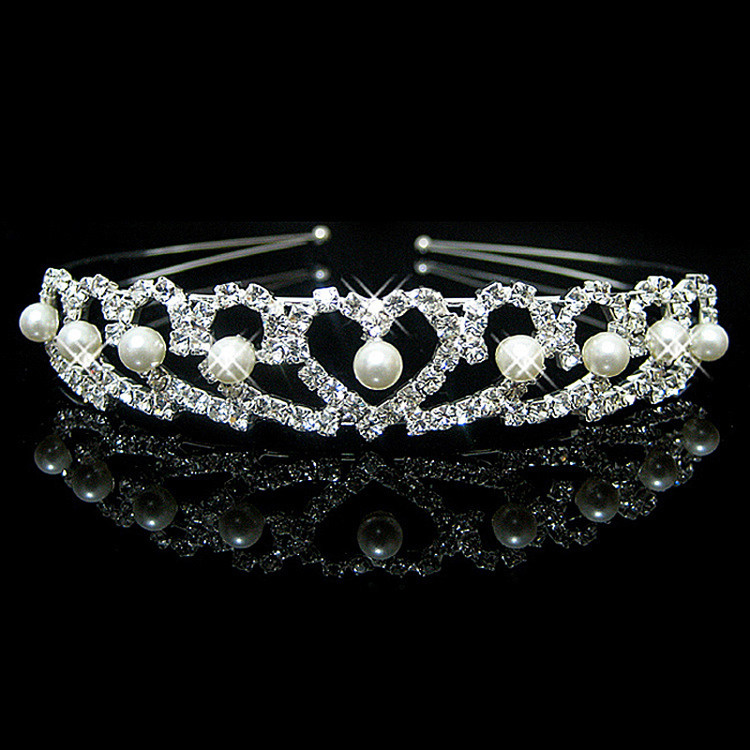 Heart Tiara Bridal Headpeice